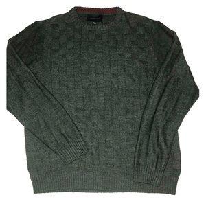 Geoffrey Beene men's SOFT acrylic grey sweater EUC